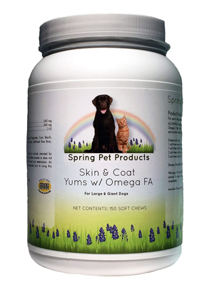 Spring Pet Skin & Coat YUMS with Omega-3 Fatty Acids